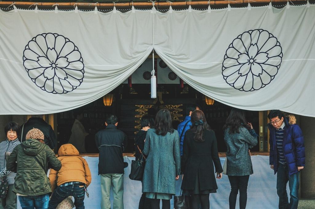 護国神社の静かな空気に癒やされる
